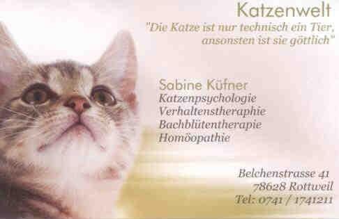 Katzenwelt Sabine Küfner - Katzenpsychologin